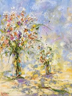 Fleurs des champs, Painting, Oil on Canvas