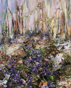Forest Violets, Painting, Oil on Canvas