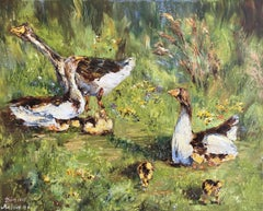 Geese, Painting, Oil on Canvas