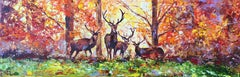 In the Autumn Forest, Painting, Oil on Canvas