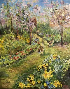 In the Garden, Painting, Oil on Canvas