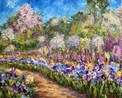 Iris dans les jardins de Monet, Painting, Oil on Canvas