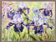 Iris, Painting, Oil on Canvas