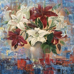 Lilies, Painting, Oil on Canvas