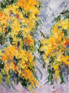 Mimosa, Painting, Oil on Canvas