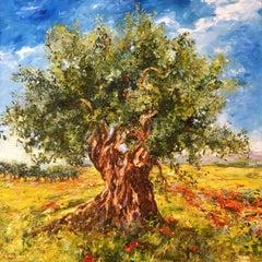 Olive Tree, Painting, Oil on Canvas