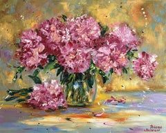 Peonies, Painting, Oil on Canvas