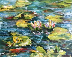 Pond, Painting, Oil on Canvas