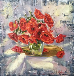 Poppies, Painting, Oil on Canvas