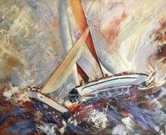 Regatta (1), Painting, Oil on Canvas