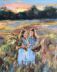 Sisters, Painting, Oil on Canvas