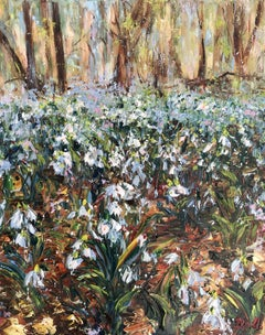 Snowdrops, Painting, Oil on Canvas