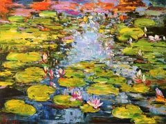 Summer Pond, Painting, Oil on Canvas