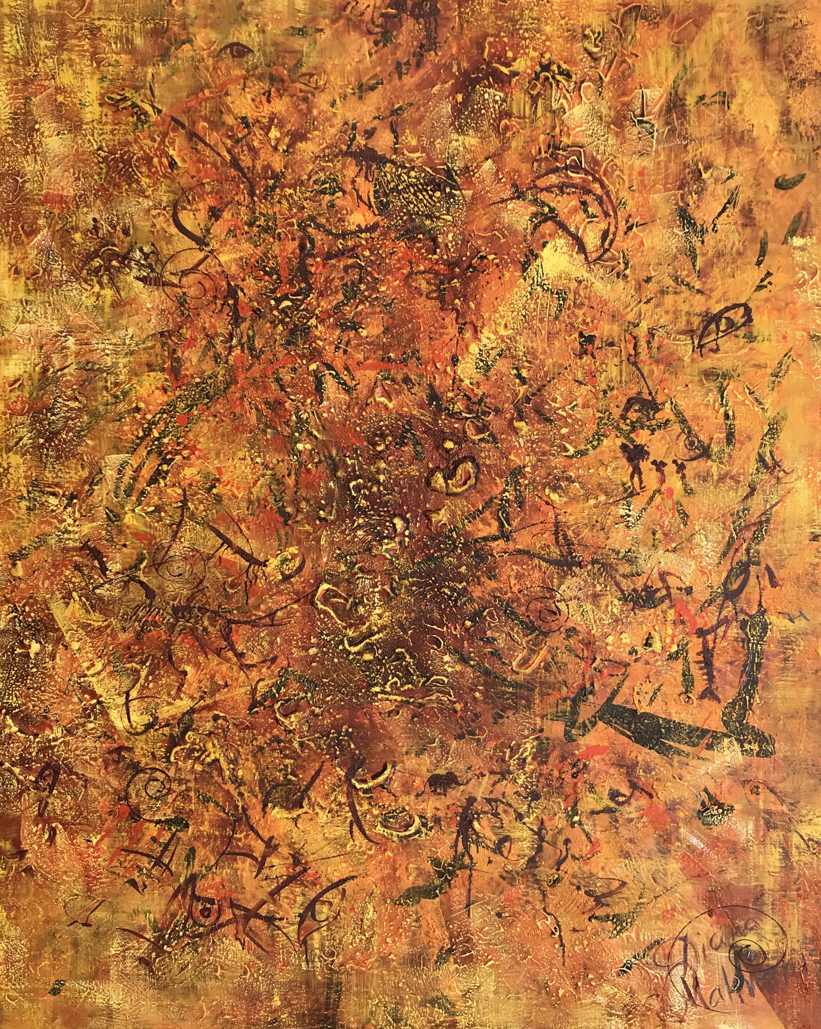 The Sea of Samsara, Painting, Oil on Canvas