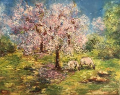 Under the Almond Tree, Painting, Oil on Canvas
