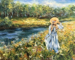 Une promenade, Painting, Oil on Canvas
