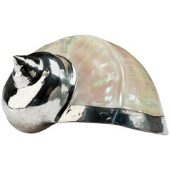 Diana Mother of Pearl Partially Silvered Sea Shell