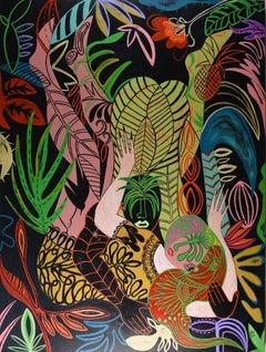 Jungle love, Painting, Acrylic on Canvas
