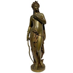 Diana the Huntress Bronze Sculpture After Jean Louis Gregoire