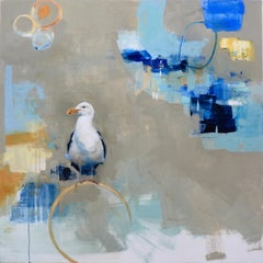 A Delicate Balance was Required / seagull oil on canvas