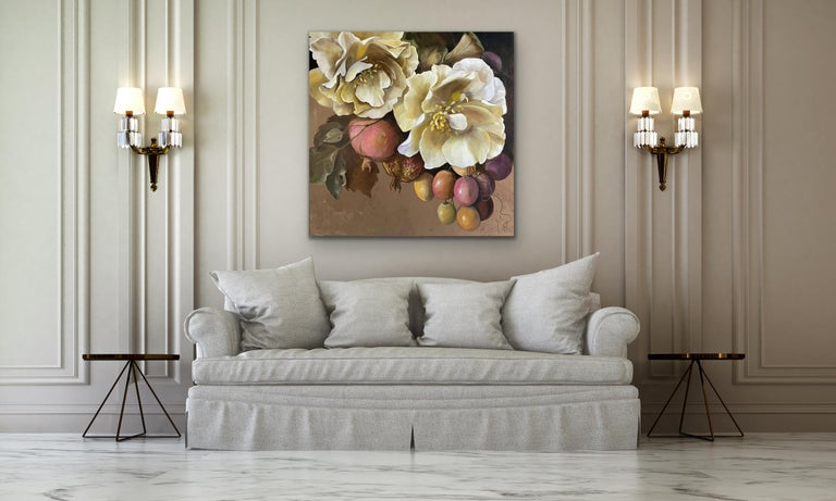 'Sofia', 2020, Contemporary still life on oil on canvas - Painting by Diana Watson