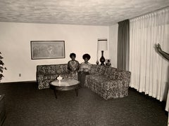 """1970s """"Dress and Couch"""" Black and White Photography"""