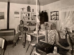 """1970s """"In the Kitchen"""" In the Style of Diane Arbus Black and White Photography"""