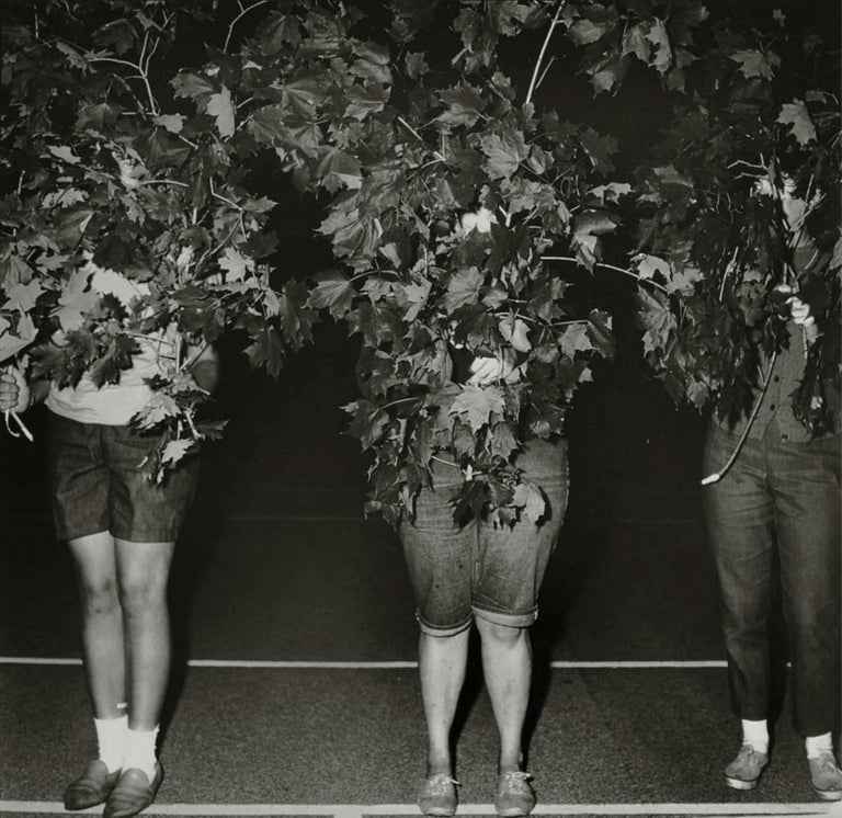 Diane Arbus Portrait Photograph - Camp Lakecrest campers as trees, Dutchess County, NY