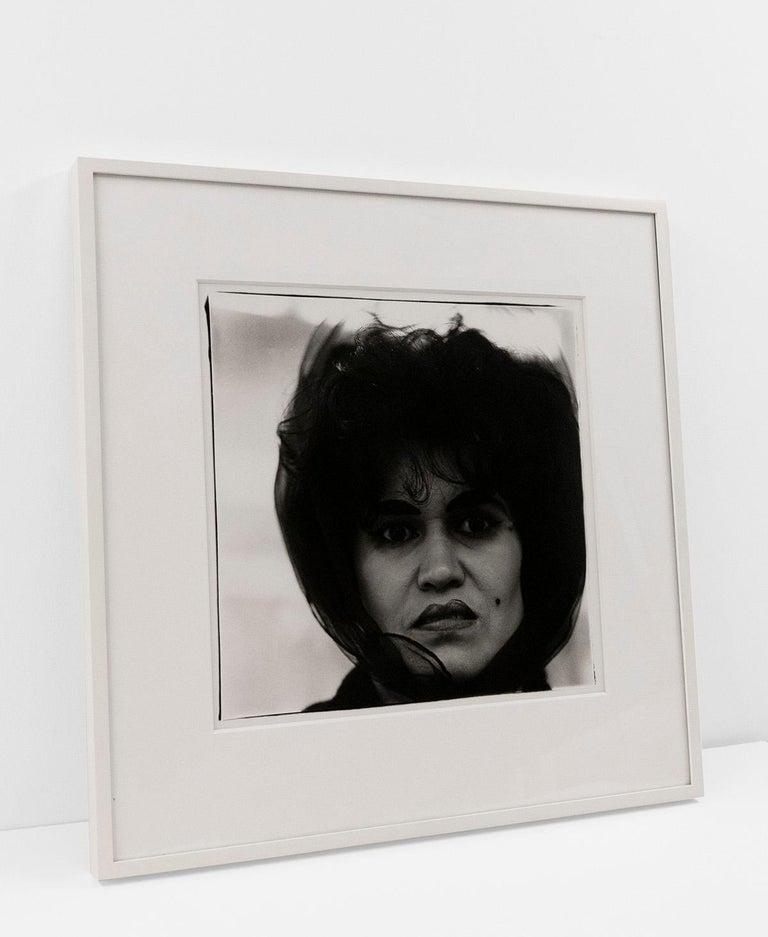 Estate stamped and signed by Doon Arbus for the Estate of Diane Arbus, verso  Gelatin silver print (Edition of 75)  20 x 16 inches, sheet 14.875 x 14.375 inches, image  Contact gallery for price.  This work is offered by ClampArt in New York City
