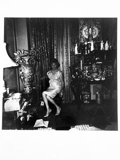 A Widow in Her Bedroom, 55th St, NY, Iconic Portrait Photograph by Diane Arbus