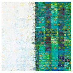 "Diane Ayott ""May, December"" Mixed Media Painting on Panel"