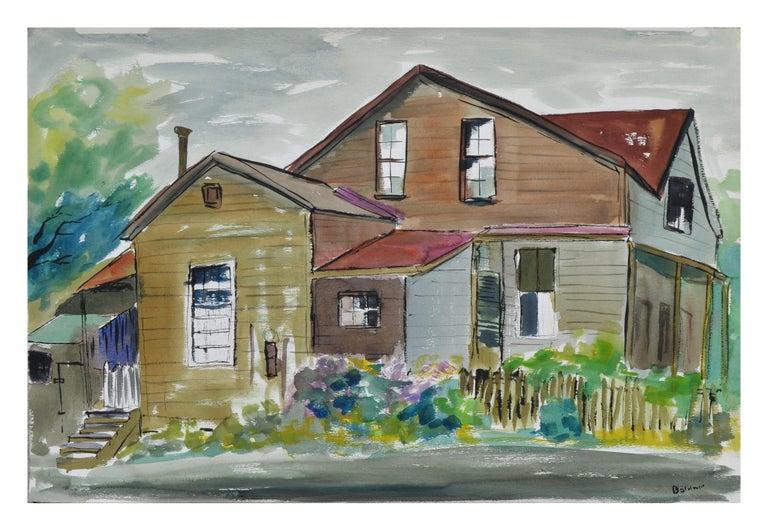 Diane Baldwin Landscape Painting - Home and Garden Landscape