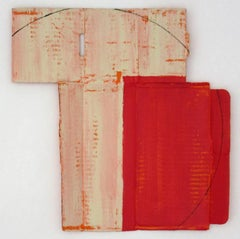 Diane Englander, Red and Buff on Orange 1, 2017, Mixed Media
