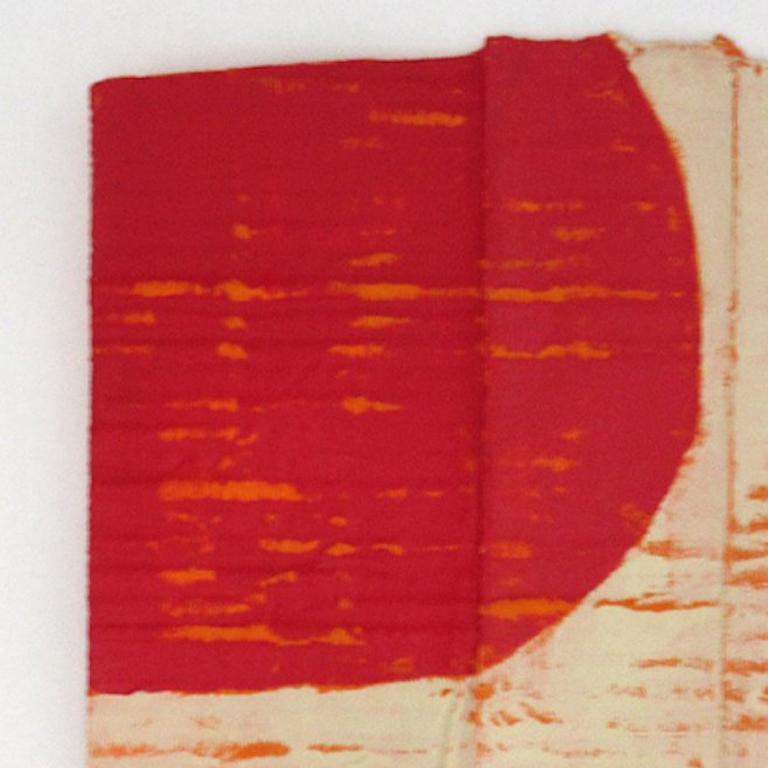 Diane Englander, Red and Buff on Orange XI, 2017, Mixed Media - Arte Povera Mixed Media Art by Diane Englander