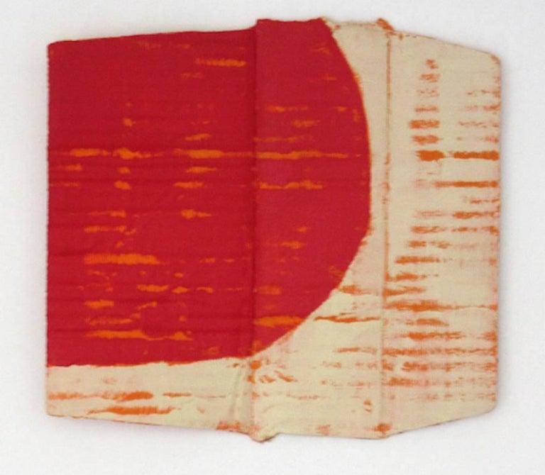 Diane Englander, Red and Buff on Orange XI, 2017, Mixed Media - Mixed Media Art by Diane Englander