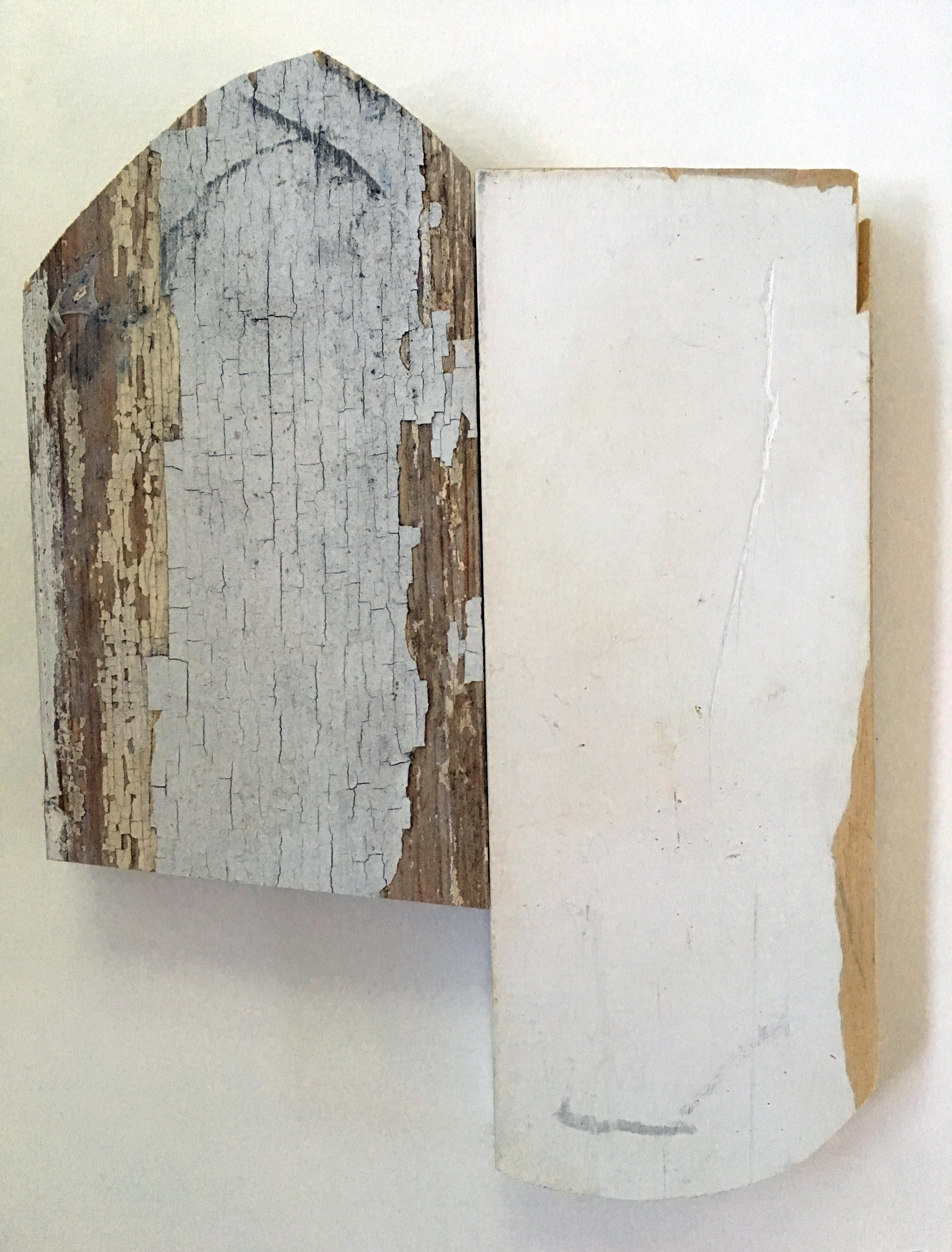 Diane Englander, Peeling White and Wood, 2018, scrap wood, 9 x 7 inches