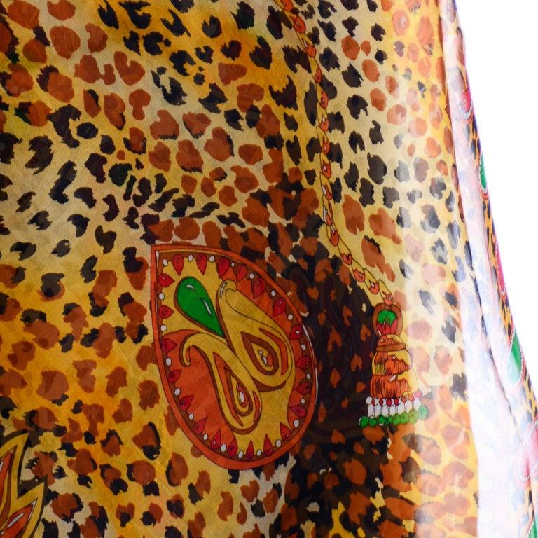 Diane Freis Deadstock Silk Vintage 1980s Animal Print Dress w/ Tag For Sale 6