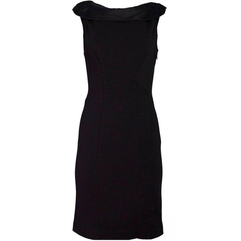 Diane von Furstenberg Black Wool Dress Sz 6