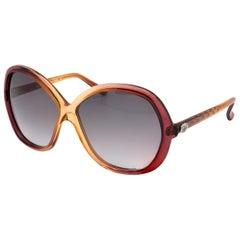 Diane von Furstenberg butterfly vintage sunglasses, France 70s