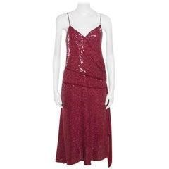 Diane Von Furstenberg Garnet Sequined Sleeveless Brenndah Dress M