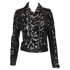 Diane Von Furstenberg Leather & Animal Print Jacket