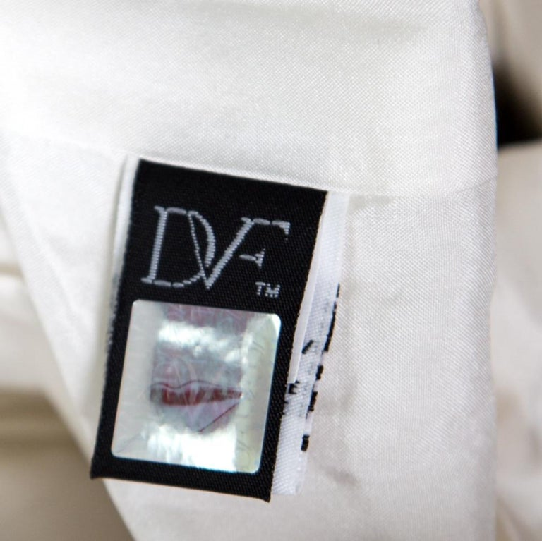 Diane Von Furstenberg Monochrome Printed Cotton Clyde Mini Skirt S For Sale 2