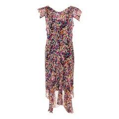 Diane Von Furstenberg Multicolor Printed Silk Cerrado Dress M