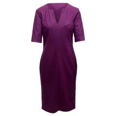 Diane Von Furstenberg Purple 'Aurora' Wool Dress