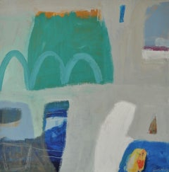 Diane Whalley, Emerald Bay, Abstract Art, Original Painting, Affordable Art