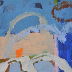 Diane Whalley, Off to the Beach, Original Abstract Painting, Affordable Art