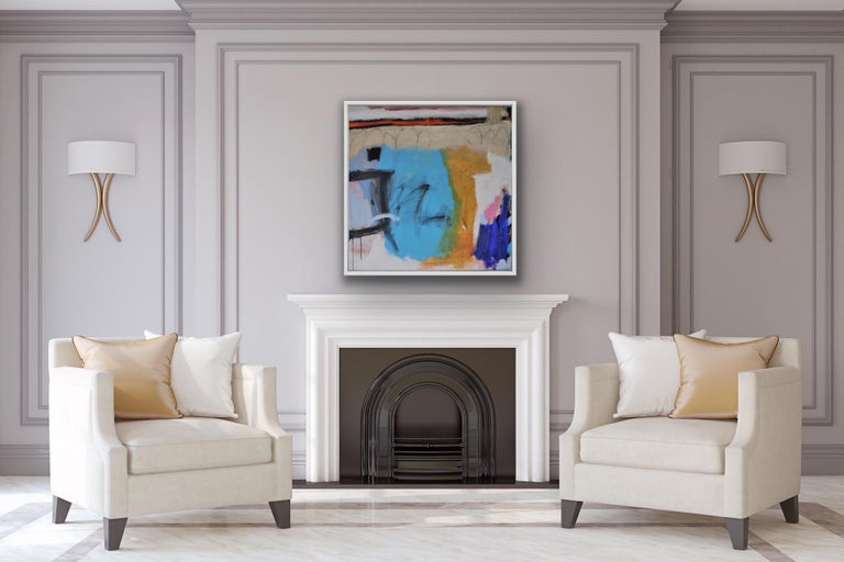 Diane Whalley, Party in the Bay, Original Abstract Painting, Contemporary Art For Sale 6