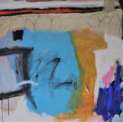 Diane Whalley, Party in the Bay, Original Abstract Painting, Contemporary Art
