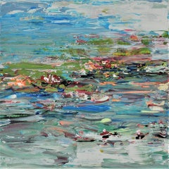 Diane Whalley, The Summer Pond, Abstract Art, Affordable Art, Art Online