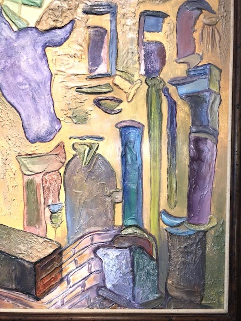 Late 20th Century  Diane Woodruff '1940-1993' Painting For Sale